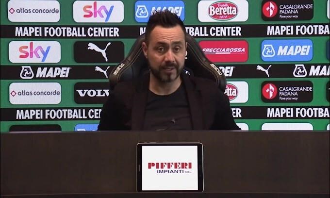 """De Zerbi: """"Quagliarella immortale, proviamoci per l'Europa League"""""""