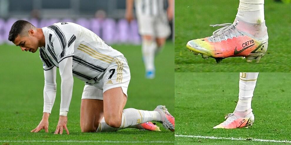 Ronaldo, scarpini su misura per festeggiare i 770 gol in carriera!