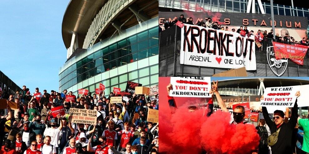 Superlega, incredibile protesta dei tifosi dell'Arsenal