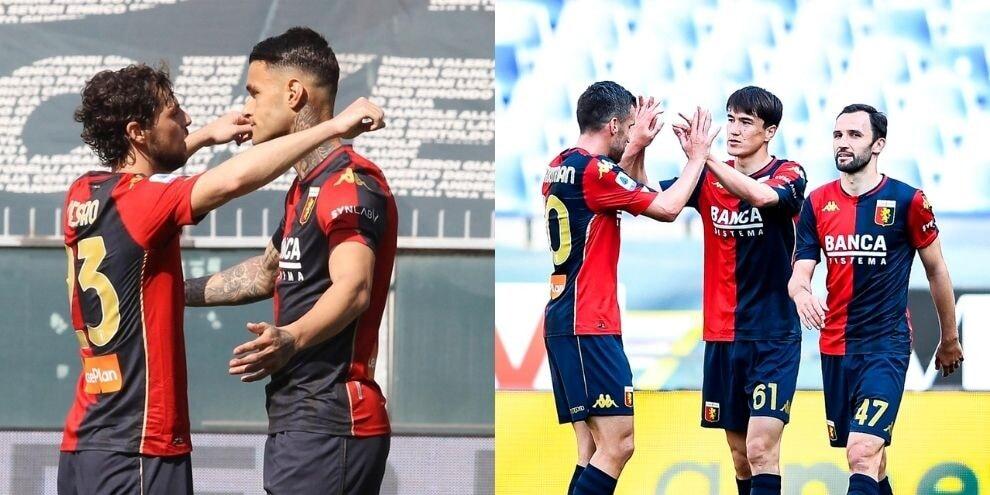 Scamacca-Shomurodov gol, Genoa batte Spezia 2-0
