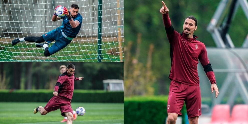 Milan: Ibrahimovic pronto al rientro, Donnarumma vola