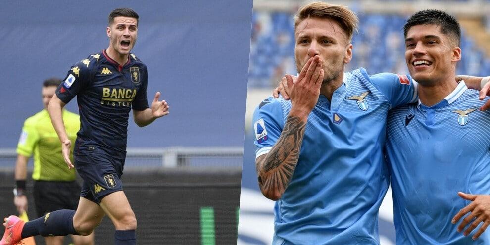 La Lazio con il brivido: 4-3 al Genoa, Correa scatenato