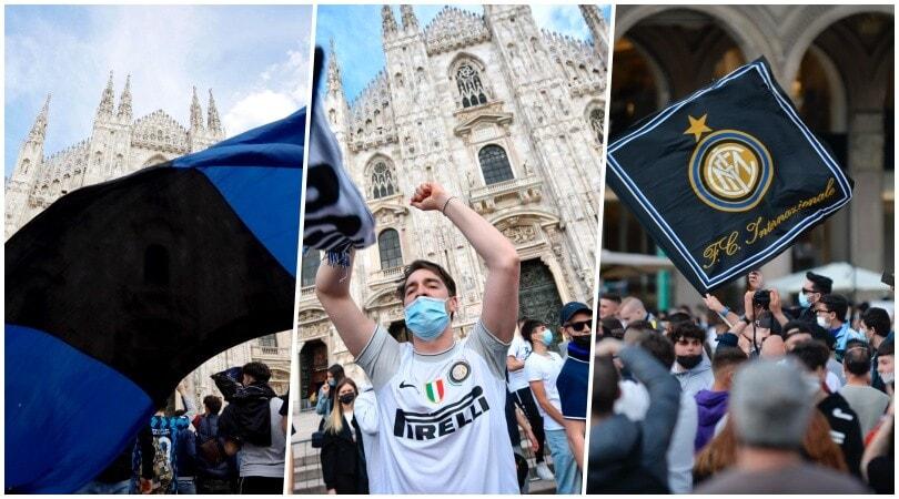 Festa Inter: in migliaia in Piazza Duomo per lo scudetto