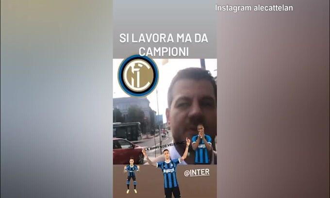 """Cattelan festeggia lo Scudetto: """"Siamo noi i Campioni dell'Italia.."""""""