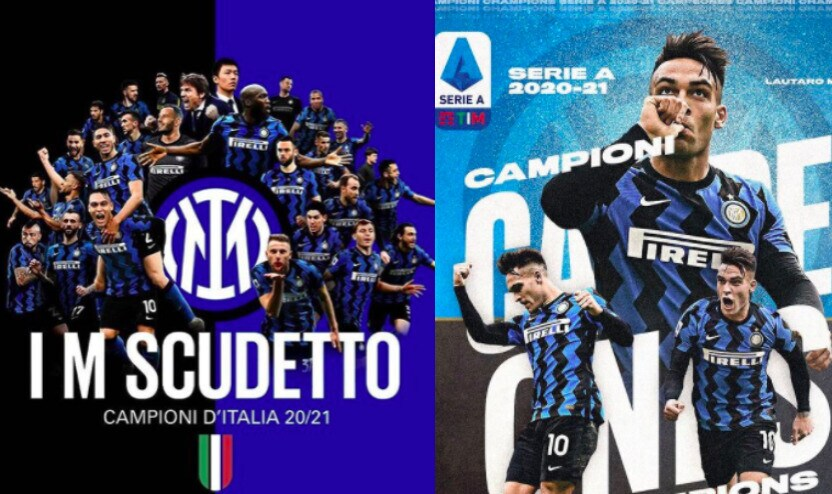 "Inter, festa sui social: ""Campioni d'Italia!"""