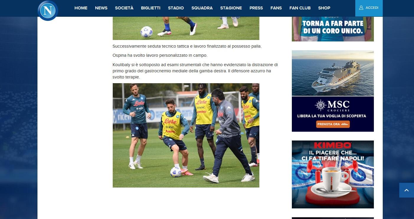 Napoli, Koulibaly out con Spezia e Udinese