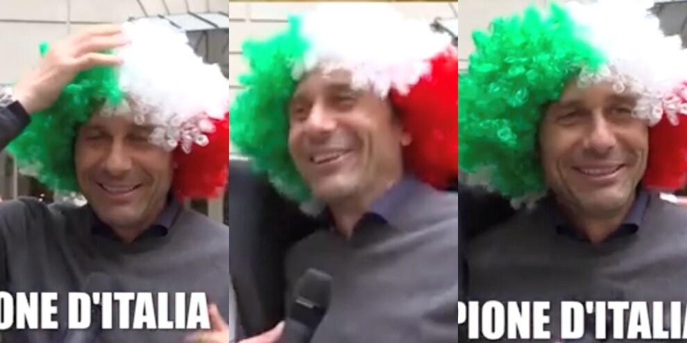 Conte, lo scherzo delle Iene e la parrucca tricolore