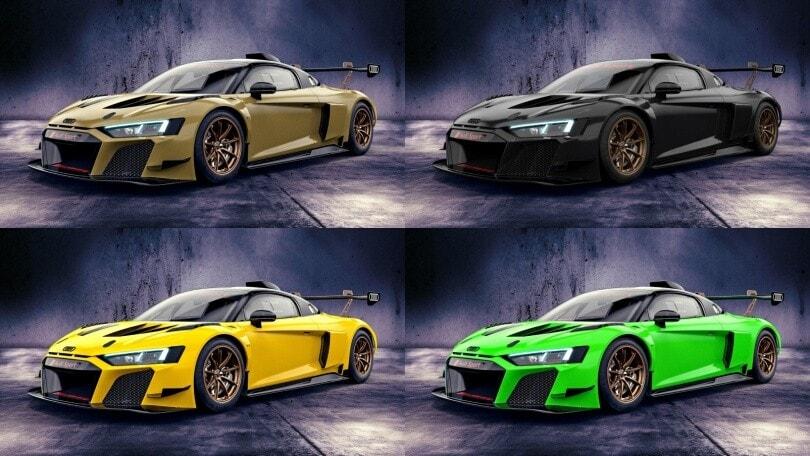 Audi R8 LMS GT2: sei colori inediti per la pistaiola