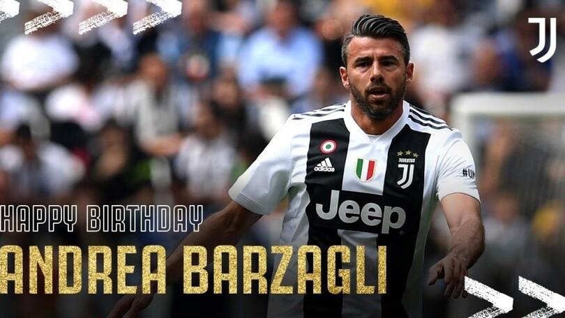 Barzagli compie 40 anni: la Juve lo festeggia sui social