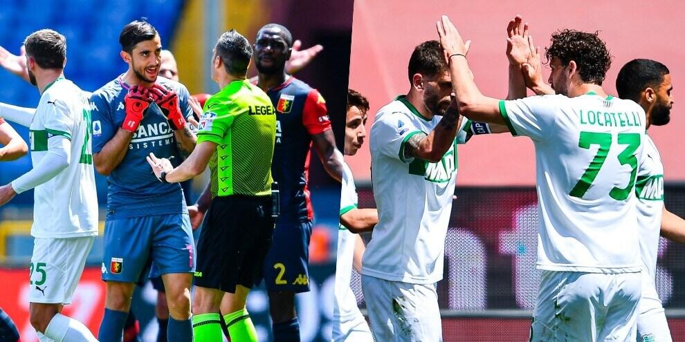 Il Genoa protesta, il Sassuolo vince: Raspadori-Berardi show