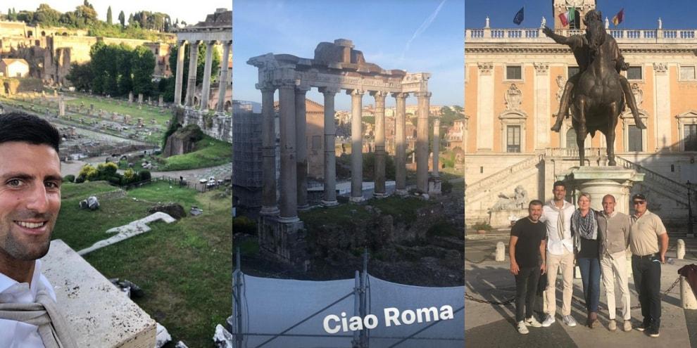 Djokovic a Roma per gli Internazionali d'Italia 2021