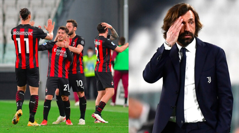 Juve ko in casa con il Milan: Pirlo deluso in panchina