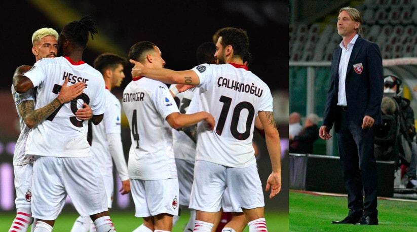 Torino, che disfatta con il Milan: Nicola impassibile in panchina