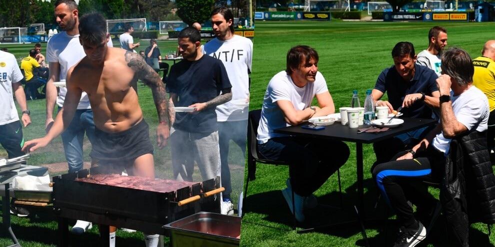 Grigliata Inter, Lautaro al barbecue e Conte a tavola