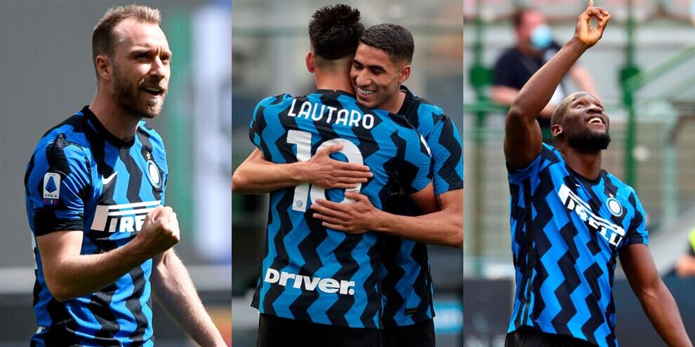 """Straripante Inter, 5-1 all'Udinese: gol per Eriksen e la """"LuLa"""""""