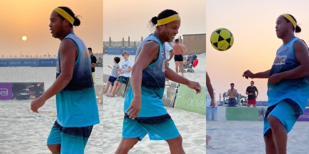 Ronaldinho show... a beach soccer!