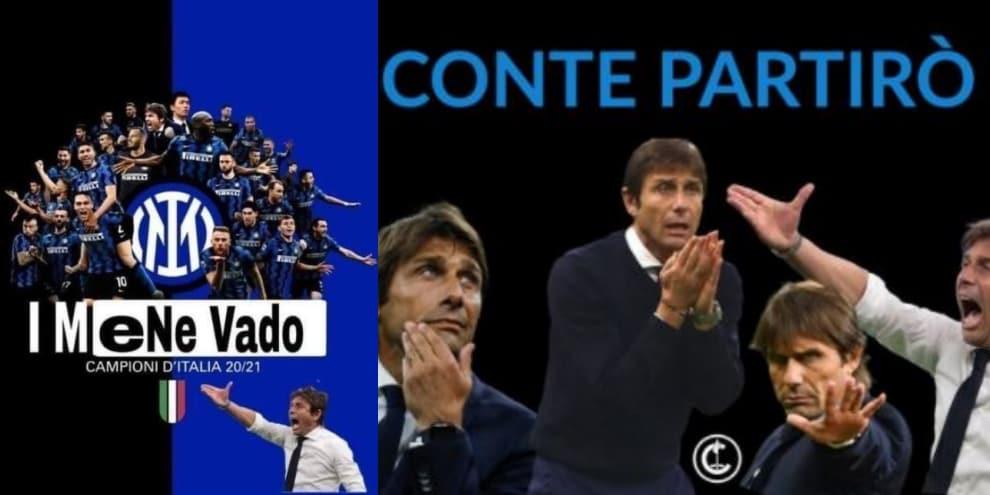 """Inter, Conte va via e scatena l'ironia social: """"Il fuggitivo"""""""