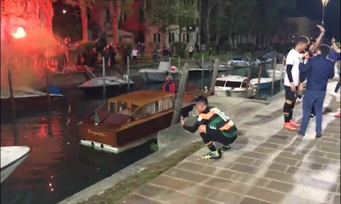 Venezia in Serie A, festeggia anche il sindaco