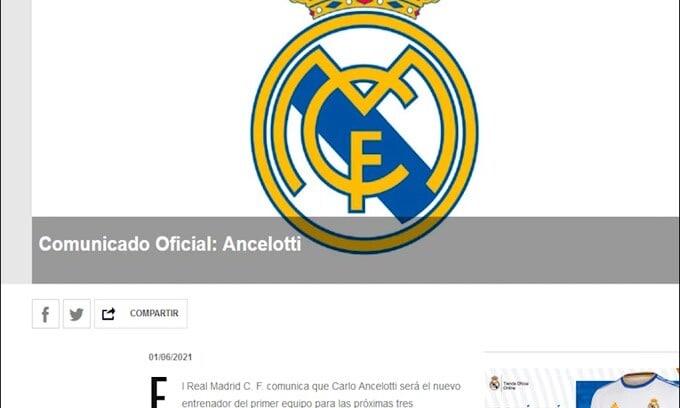 Ufficiale: Ancelotti nuovo tecnico del Real Madrid