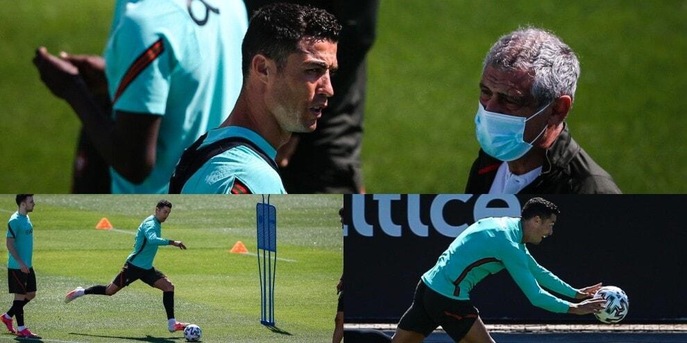 Ronaldo, colloquio con il ct e tiri: è il Portogallo di CR7