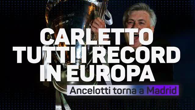 Ancelotti, tutti i record in Europa