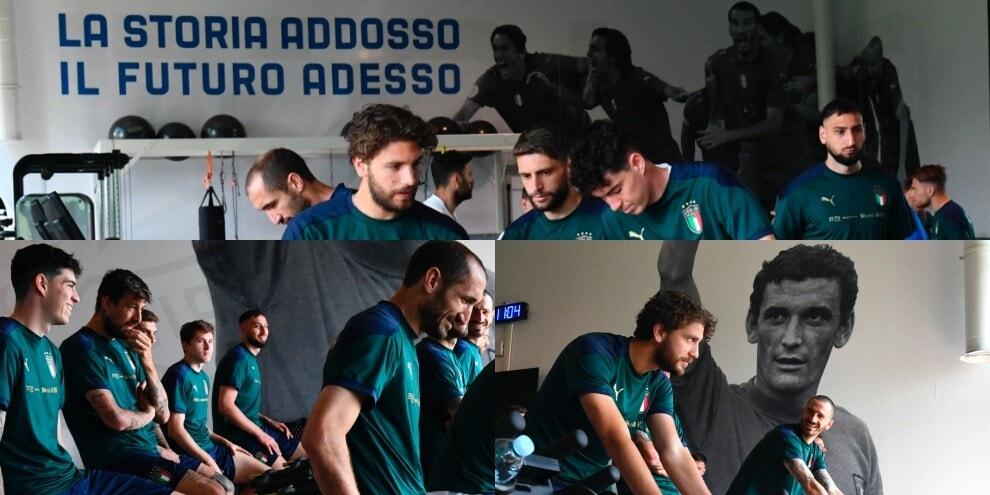 """Italia """"in bici"""" verso Euro 2020, sotto lo """"sguardo"""" di Gigi Riva"""