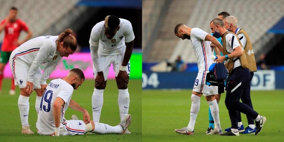 Choc Benzema, il francese in lacrime per un infortunio