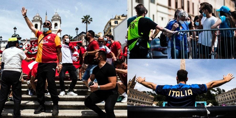 Euro 2020, tifosi carichi per Turchia-Italia: che show per Roma!
