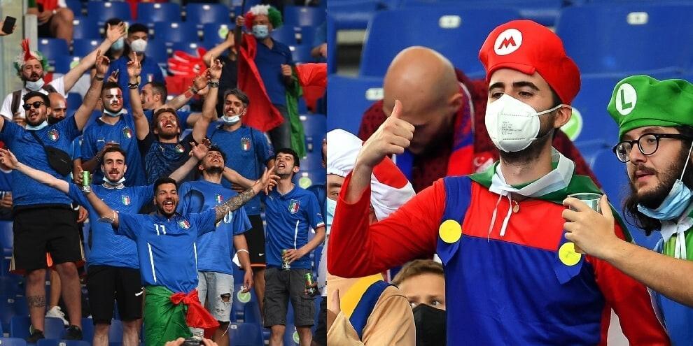 I tifosi tornano all'Olimpico per Turchia-Italia. Che entusiasmo!