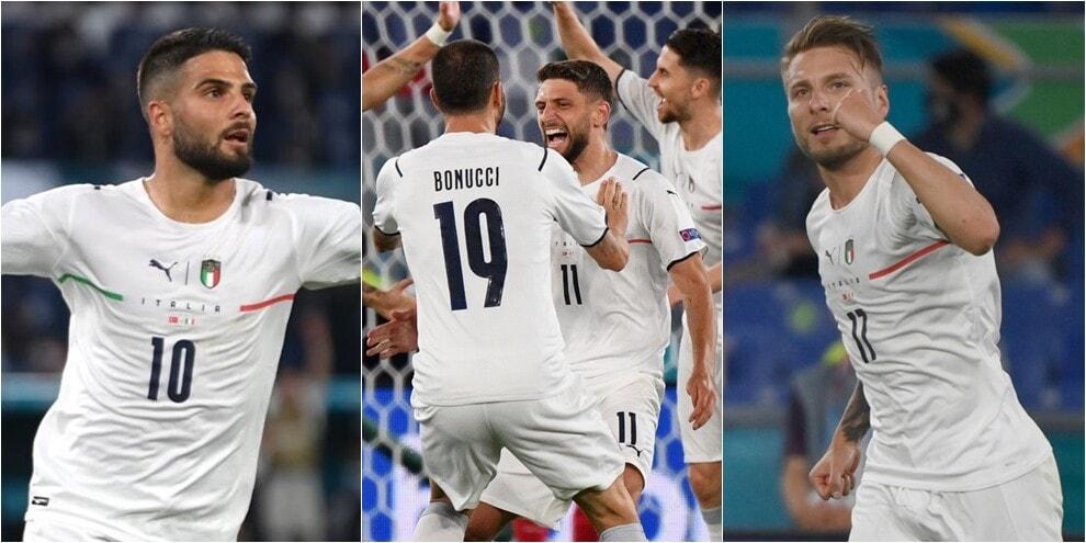 Italia, 3-0 alla Turchia nella prima agli Europei: in gol Insigne e Immobile