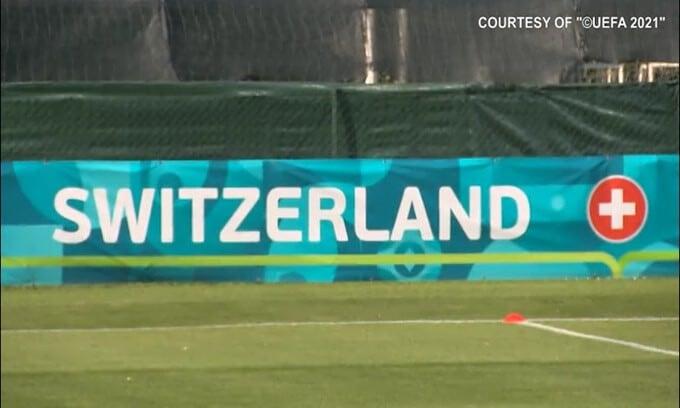 Svizzera, allenamento al Tre Fontane