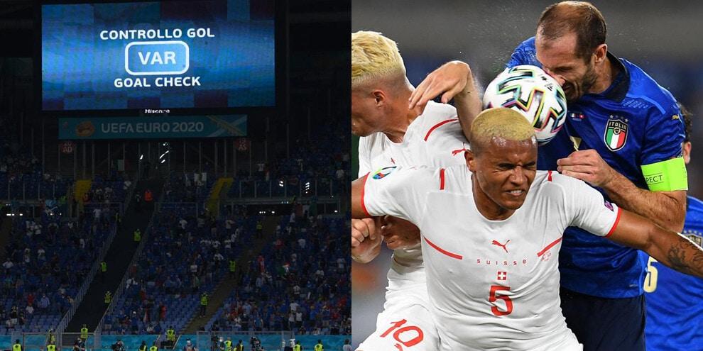 Italia-Svizzera, il gol annullato a Chiellini per fallo di mano