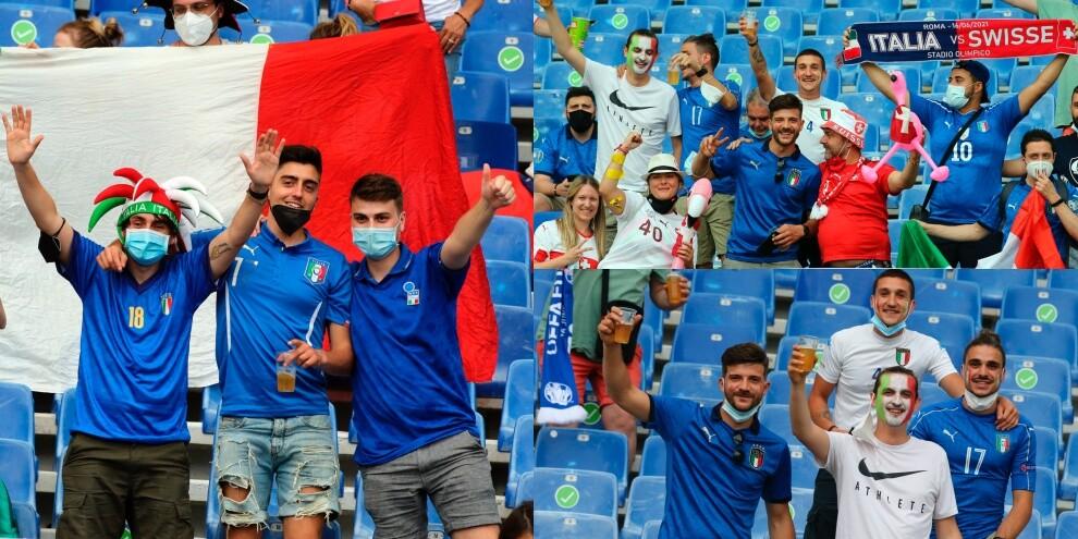 Italia-Svizzera, tifosi scatenati all'Olimpico!