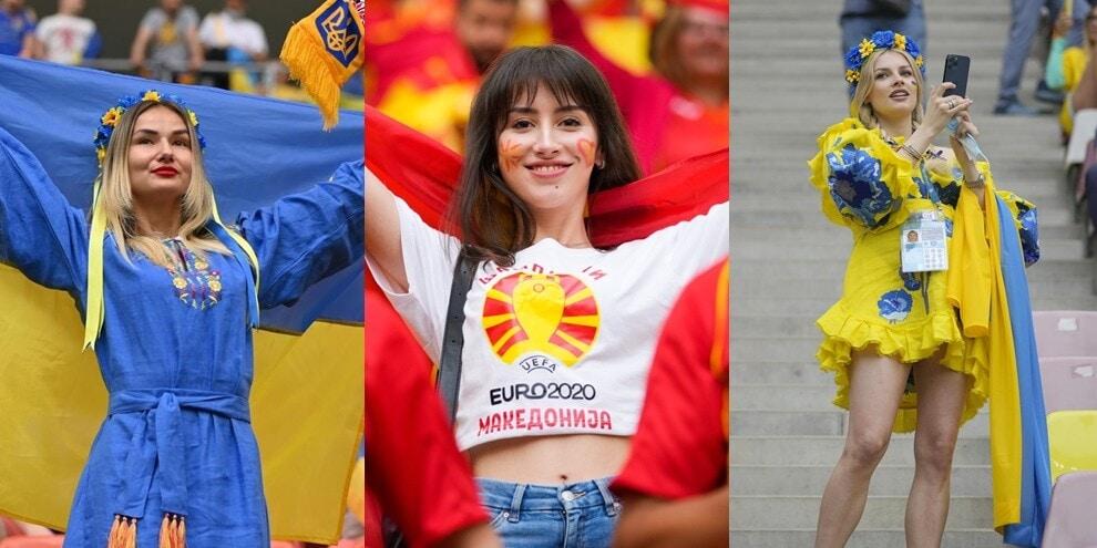 Euro2020, Ucraina-Macedonia del Nord: che show in tribuna