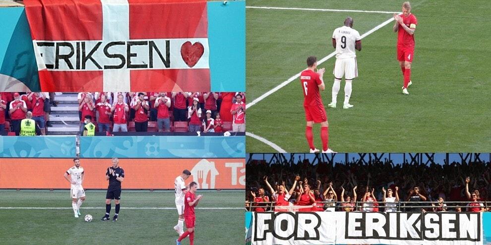 Euro2020, al 10' Danimarca-Belgio si ferma per Eriksen