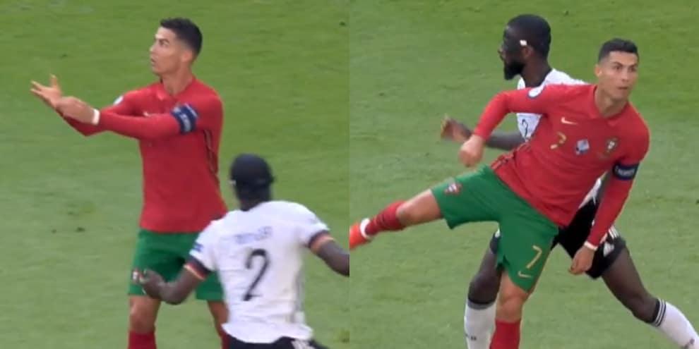 Ronaldo infiamma i tifosi a Euro 2020: sombrero su Rudiger e tacco no look!