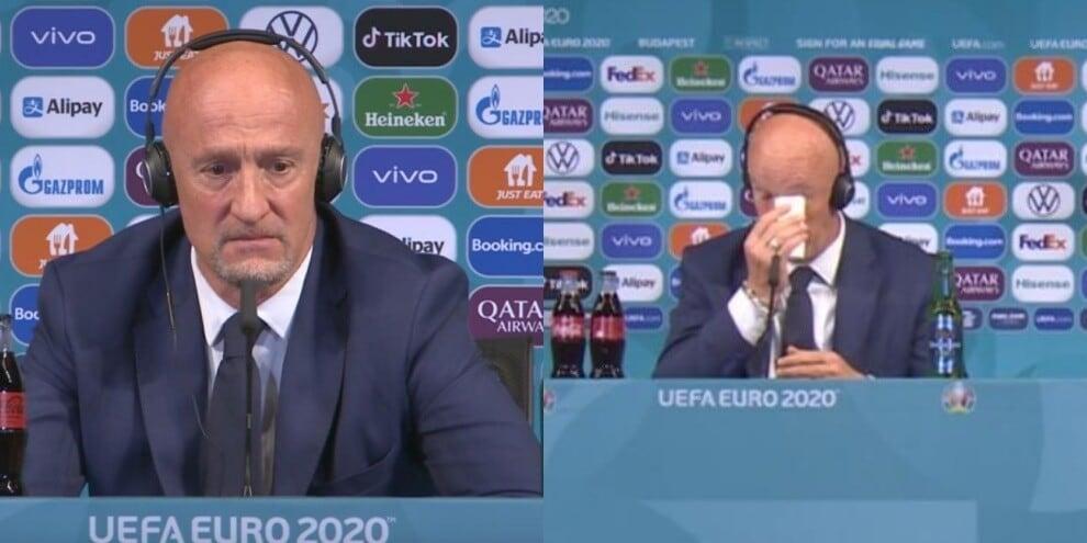 Ungheria, il ct Marco Rossi in lacrime dopo l'1-1 con la Francia
