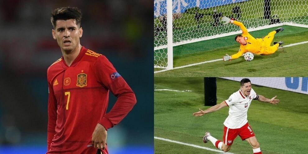 Morata si sblocca e poi sciupa: Spagna raggiunta da Lewandowski