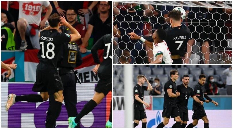 Goretzka nel finale salva la Germania. Ungheria eliminata