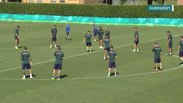 Italia, ultimi allenamenti a Coverciano prima di Wembley