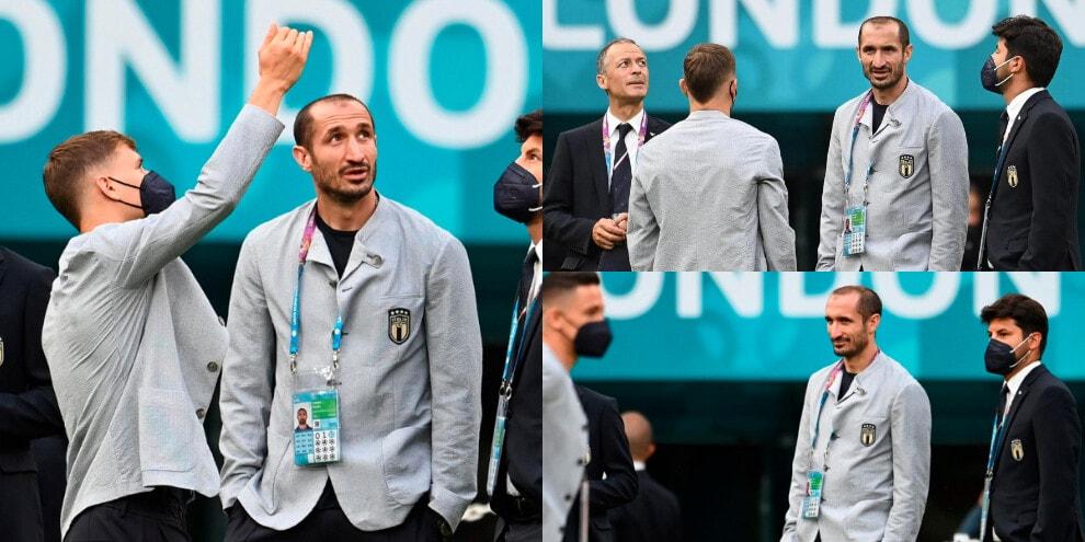 L'Italia approda a Wembley. Chiellini a colloquio con Barella