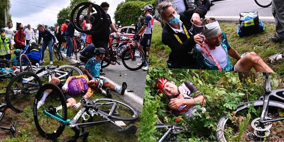 Tour de France, maxi incidente creato da una spettatrice!