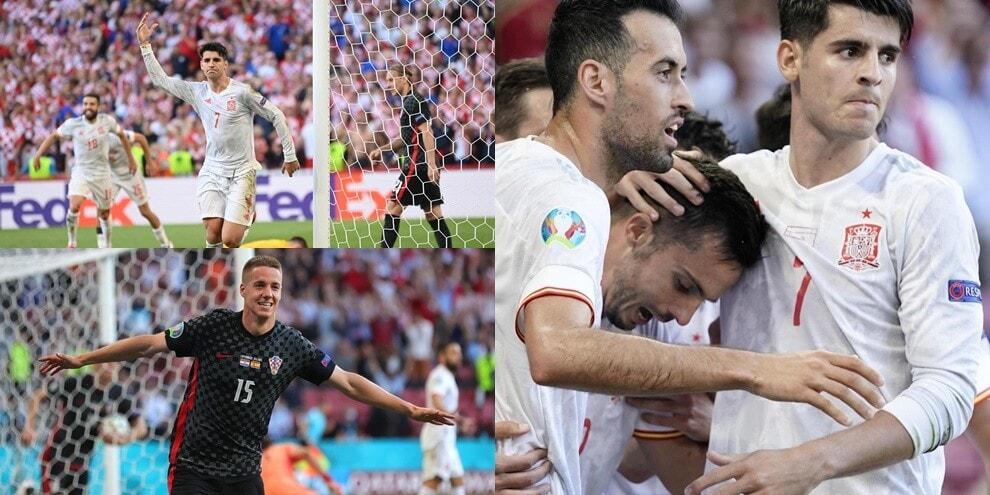 Pasalic non basta alla Croazia, Morata lancia la Spagna ai quarti
