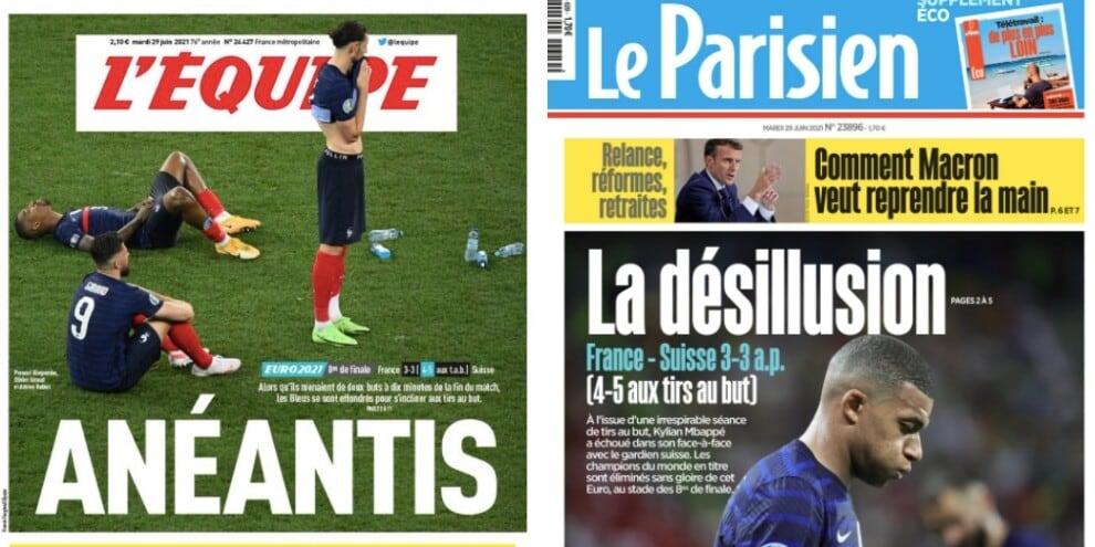 Il flop della Francia a Euro 2020 visto dalla stampa estera