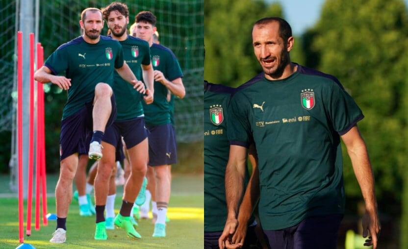 Italia, Chiellini si allena per il Belgio: rientro vicino