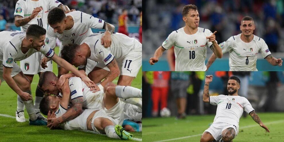 Italia: è semifinale! Barella e Insigne stendono il Belgio