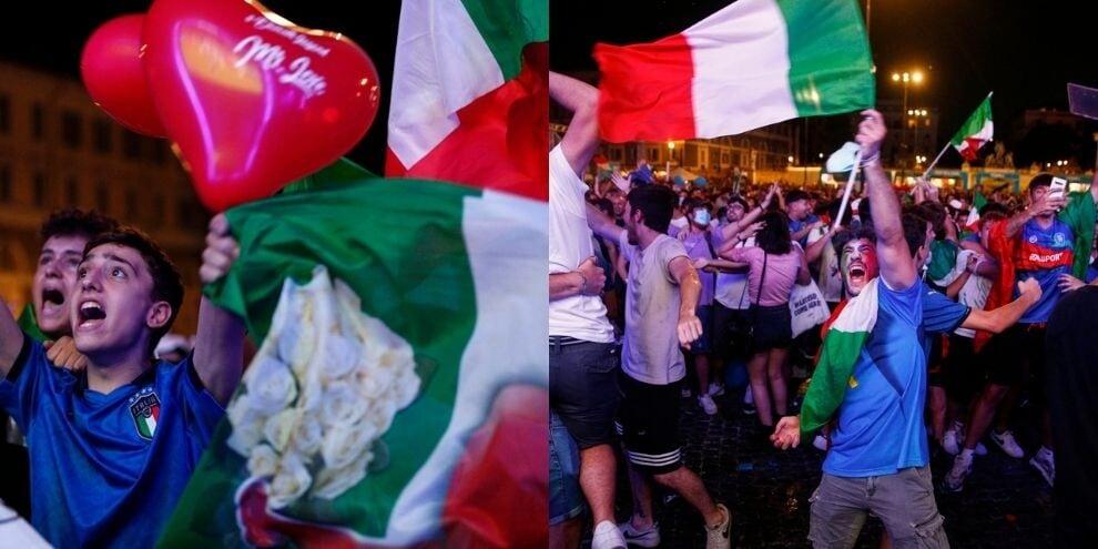 Italia super: Piazza del Popolo in delirio per gli azzurri