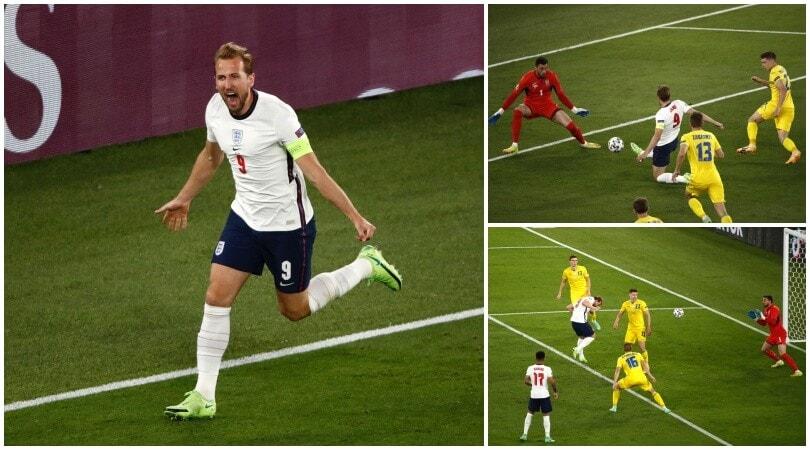 L'Inghilterra vola in semifinale con Kane: Ucraina battuta 4-0