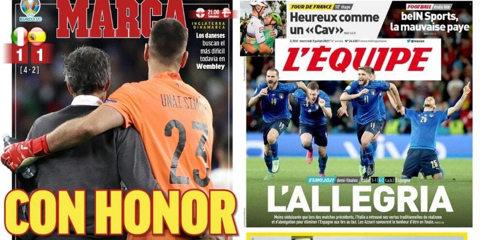 Italia in finale, le reazioni della stampa francese e spagnola