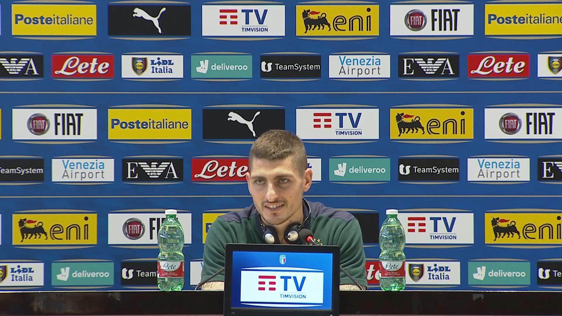 """Verratti: """"Con Bonucci e Chiellini ci sentiamo sempre al sicuro"""""""